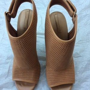 Women's Shoes, tan, 4 inch heel